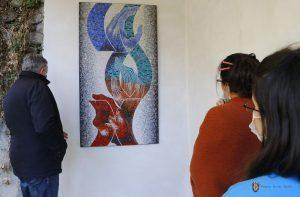 Две мозаечни пана красят представителството на Съюза на българските художници във В. Търново