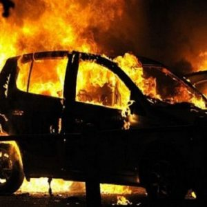Кола изгоря като факла в Драгомирово