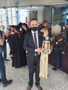 Председателят на Общинския съвет Христо Кавалски пренесе благодатния огън от София до Павликени